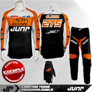 tenue personnalise custom mx outfit utah jump industries