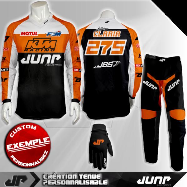 tenue personnalise custom mx outfit utah jump industries