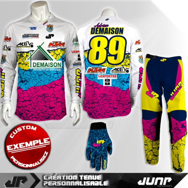 tenue personnalise custom mx outfit quakebow jump industries