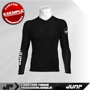 maillot slim compression noir personnalise jump industries