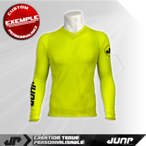 maillot slim compression neon yellow personnalise jump industries