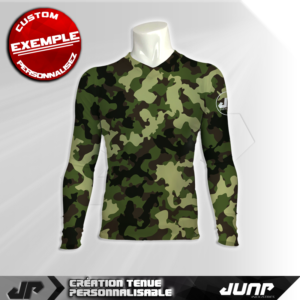 maillot slim compression camo personnalise jump industries