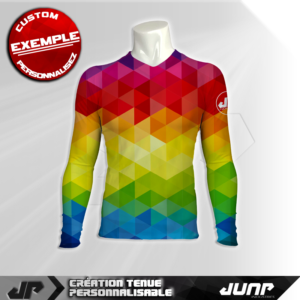 maillot slim compression marlequin personnalise jump industries