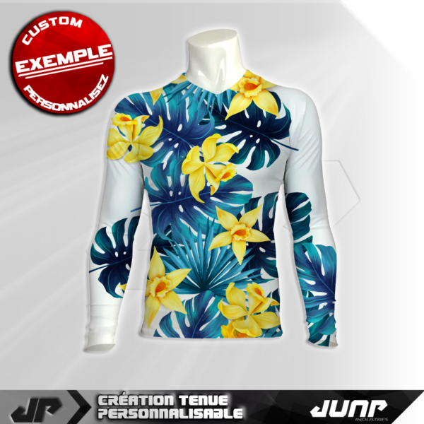 maillot slim compression flowers personnalise jump industries