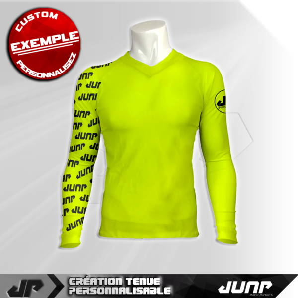 maillot slim compression jeon personnalise jump industries