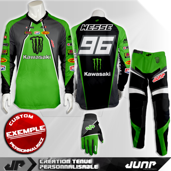tenue personnalise custom mx outfit green bay jump industries