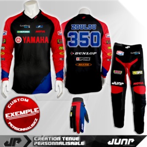tenue personnalise custom mx outfit oakland jump industries