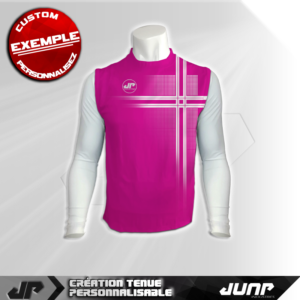 maillot debardeur compression pinktronic personnalise jump industries