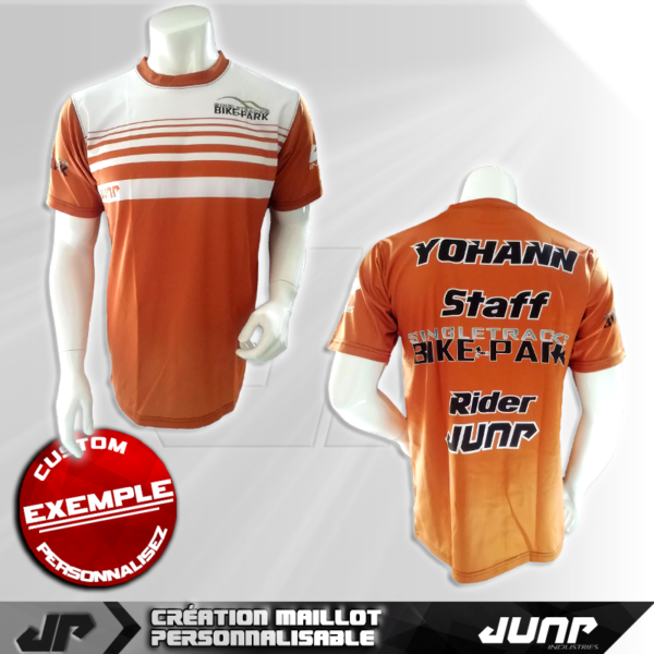 personnalisation maillot manche courte jump industries