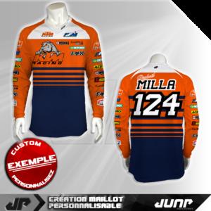 personnalisation maillot bullinder jump industries