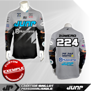 personnalisation maillot graychecked jump industries