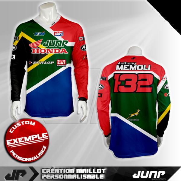personnalisation maillot pretoria jump industries