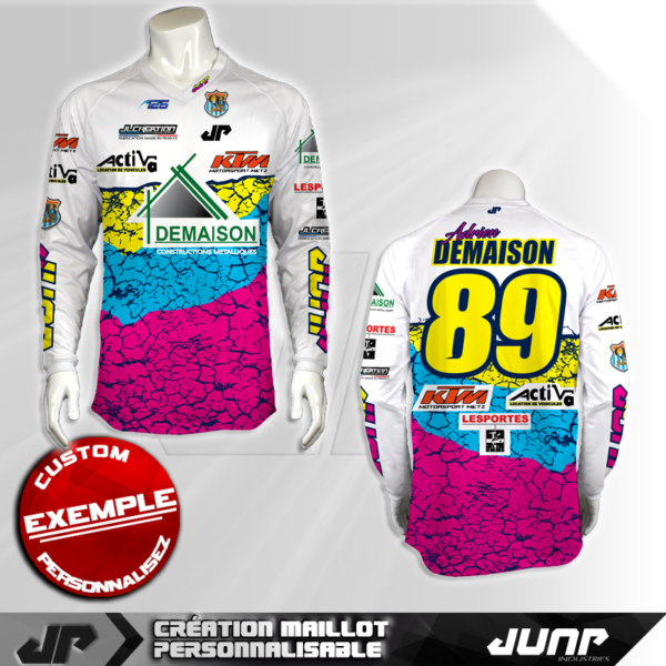 personnalisation maillot quakebow jump industries