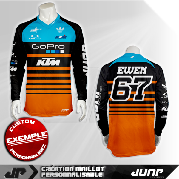 personnalisation maillot san diego jump industries